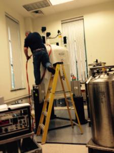 800 NMR Installation